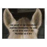 """Listening Horse Ears"" Greeting Card"