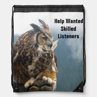 Listening Owl Quote Backpack