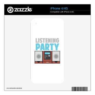 Listening Party iPhone 4 Decal