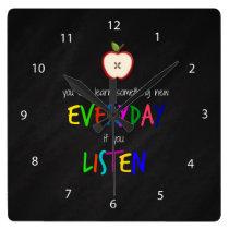 Listening Square Wall Clock