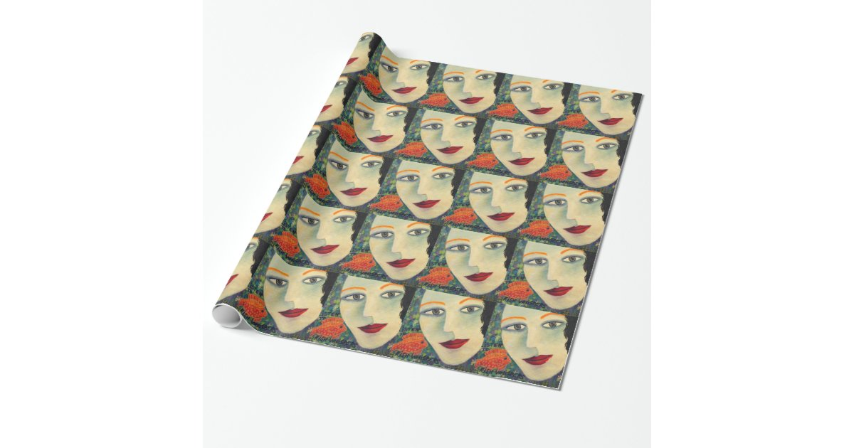 Listening to fish whispers wrapping paper zazzle for Fish wrapping paper