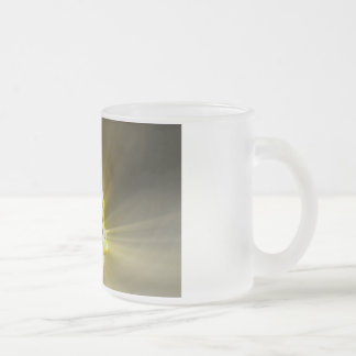 Listening to Music and Reaching a Calm Zen State Frosted Glass Coffee Mug