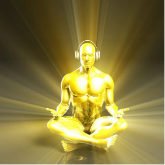 Listening to Music and Reaching a Calm Zen State Statuette