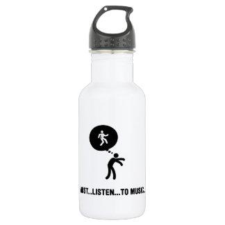 Listening to Music 18oz Water Bottle