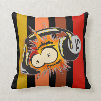 Listening To Music Throw Pillow