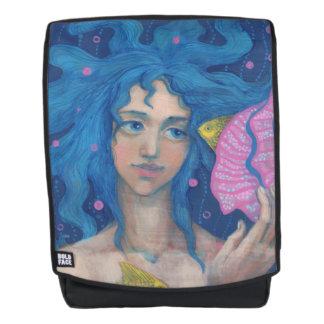 """""""Listening to the Sea"""", Little Mermaid, Underwater Backpack"""