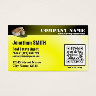Listing promotion business card (with QR code)