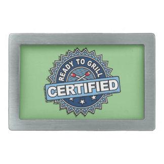 Listo certificada para asar a la parrilla hebilla cinturón rectangular