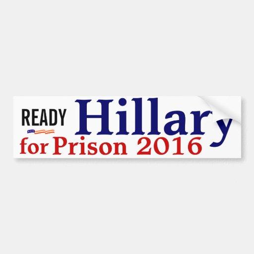 Listo: Hillary para el bumpersticker 2016 de la pr Etiqueta De Parachoque