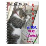 Listo o no, aquí vengo libro de apuntes con espiral