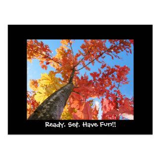 Listo. Sistema. ¡Diviértase!! hojas de otoño de la Postales