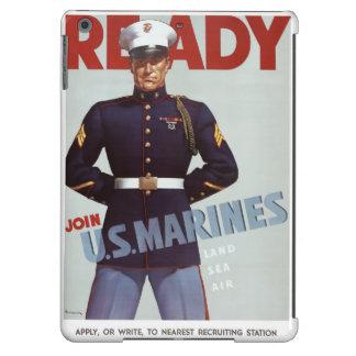 Listo únase al poster de los militares del vintage funda para iPad air