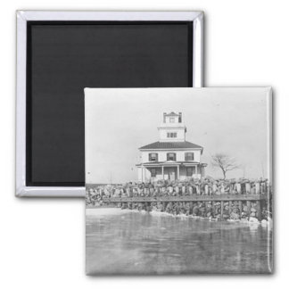 Liston Range Front Lighthouse 2 Inch Square Magnet