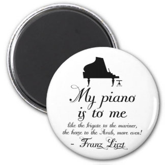 Liszt Piano Classical Music Quote 2 Inch Round Magnet