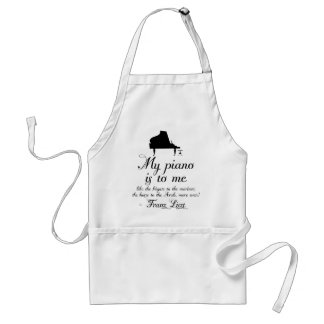 Liszt Piano Classical Music Quote Adult Apron