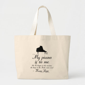 Liszt Piano Classical Music Quote Jumbo Tote Bag
