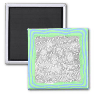 Lit blue n green template magnet