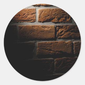 Lit Brick Wall Classic Round Sticker