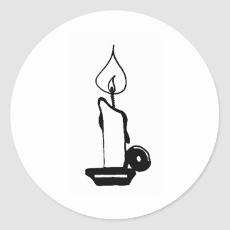 Lit Candle Classic Round Sticker