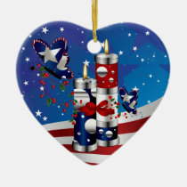 america, jesus, blood, prayer, god, bible, trust, army, soldiers, ornament, Ornament with custom graphic design
