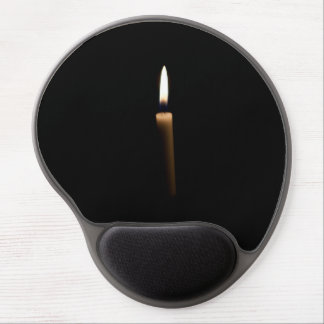 Lit candle gel mouse pads