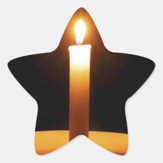 Lit Candle on Black.jpg Star Sticker