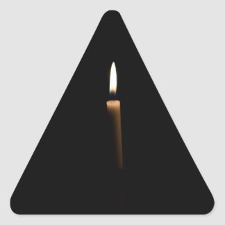 Lit candle triangle sticker