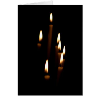 Lit candles greeting card