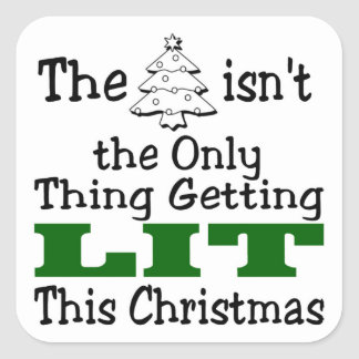 Lit Christmas Stickers