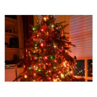Lit Christmas Tree Post Card
