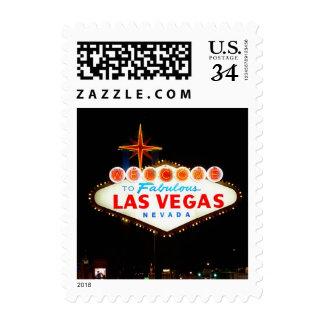 Lit de la muestra de Vegas de la postal para Franqueo