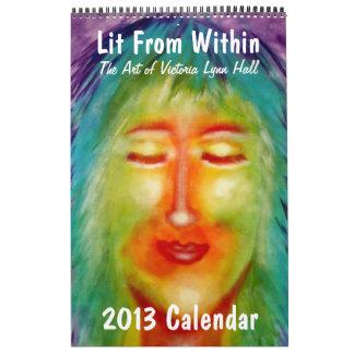 """""""Lit dentro"""" del arte de Victoria Lynn Pasillo Calendarios"""