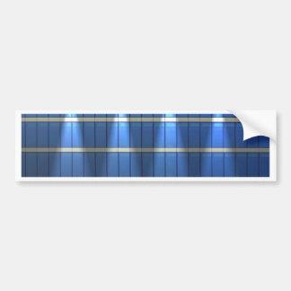 Lit encima del bloque hueco azul 2 pegatina para auto