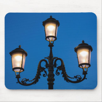 Lit Lamp At Night, Venice Mouse Pad