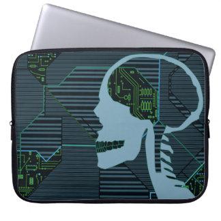 lit logicskull laptop computer sleeve