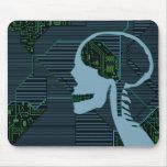 lit logicskull mouse pad