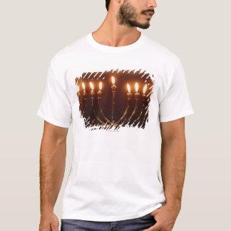Lit menorah, Israel T-Shirt