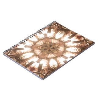 Lit Merry Christmas Tree Lights Kaleidoscope Art Spiral Notebook