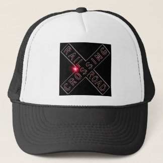 Lit Up Neon Railroad Crossing Buck Trucker Hat