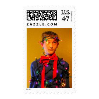 Lit Up Postage Stamp