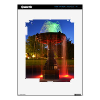 Lit Water Fountain iPad 3 Decals