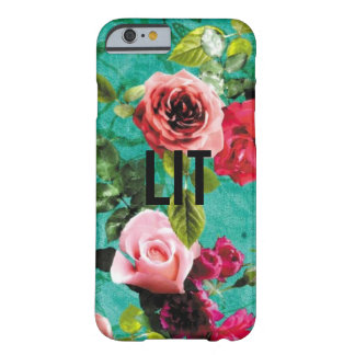 LIT with Floral Background Barely There iPhone 6 Case