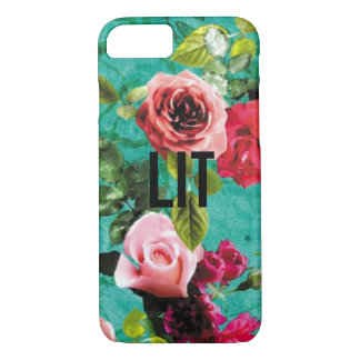 LIT with Floral Background iPhone 8/7 Case