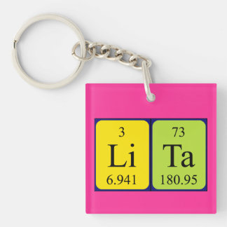 Lita periodic table name keyring keychain