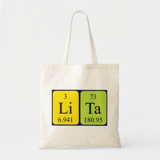 Lita periodic table name tote bag