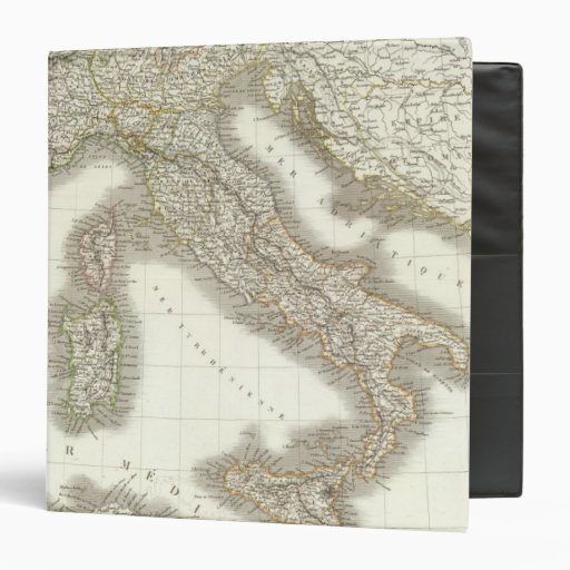 L'Italie - Italy Map Vinyl Binders