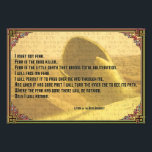 "Litany Against Fear Shai Hulud and Fremen Text Photo Print<br><div class=""desc"">Here is the moving &quot;Litany Against Fear&quot; used by the Bene Gesserit for strength during times of danger. This one includes some &quot;Fremen&quot; text,  and an image of the Maker,  Shai Hulud. Works on any size.</div>"