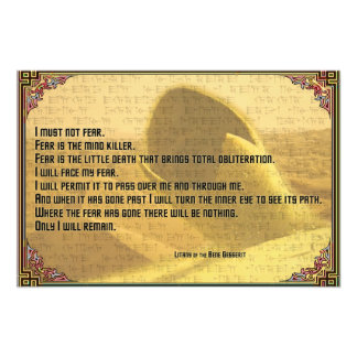 Litany Against Fear Shai Hulud and Fremen Text Photo Print