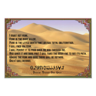Litany Against Fear with Fremen Photo Print