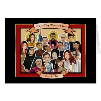 Litany of Saints greeting card
